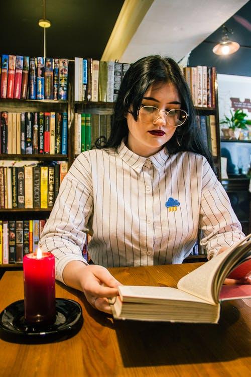 Free stock photo of books, coffee house, girl