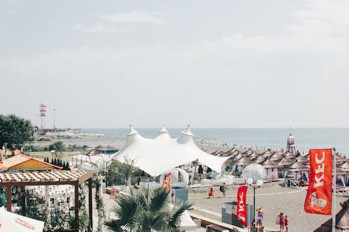 açık hava, ağaçlar, çatı, deniz içeren Ücretsiz stok fotoğraf