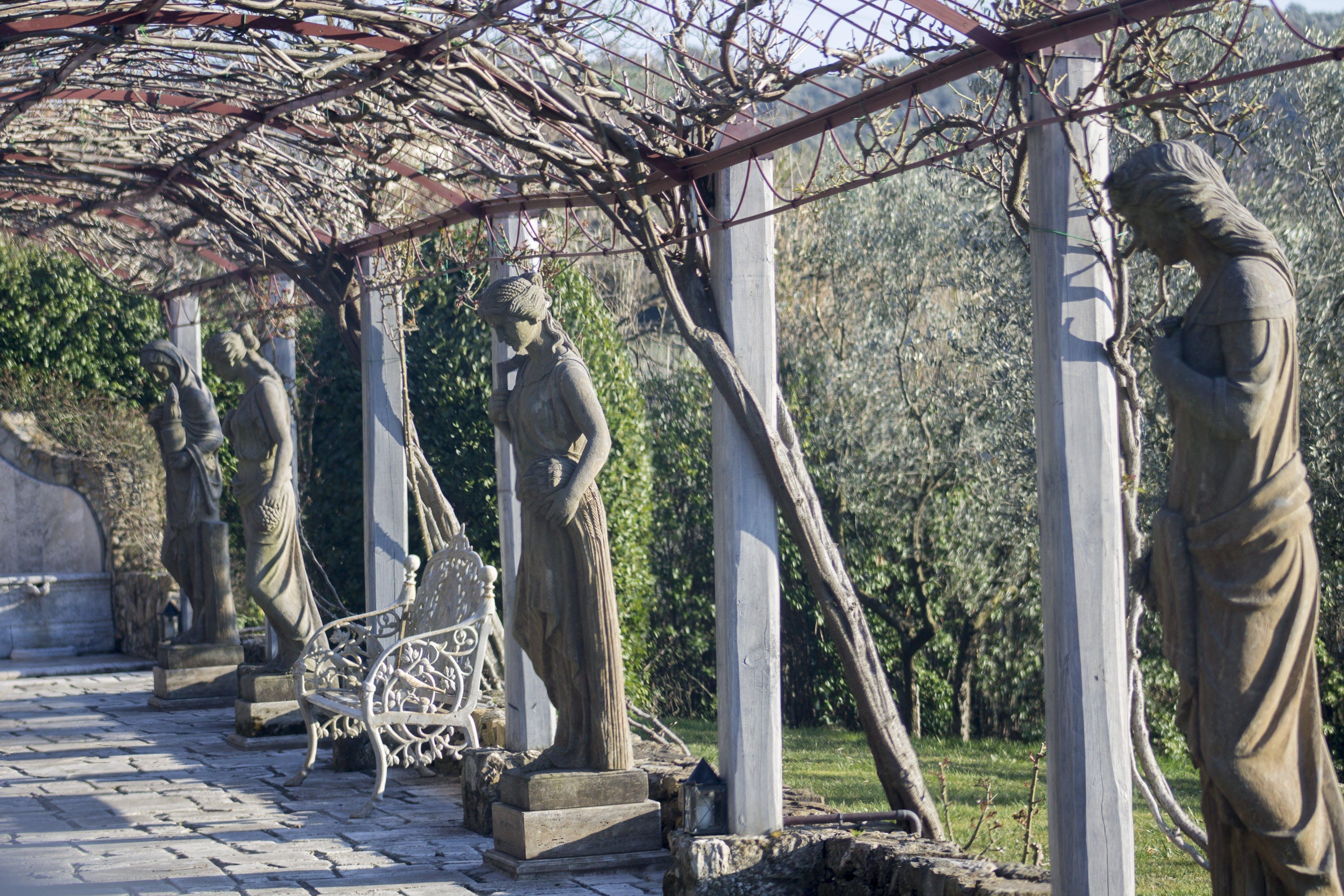 Free stock photo of bench, road, italian, nature