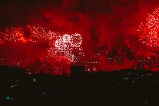 Kostenloses Stock Foto zu nacht, festival, party, explosion