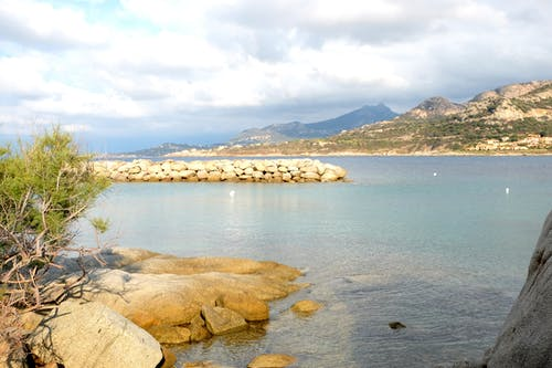 Free stock photo of beach, blue, corsica, landscape