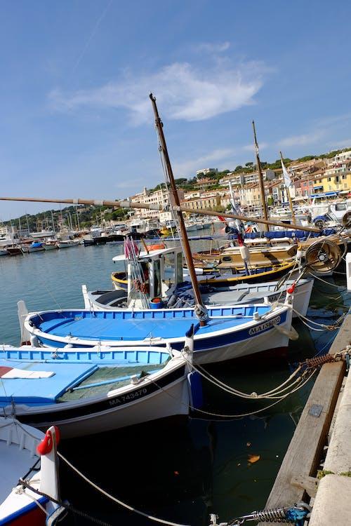 Free stock photo of boat, coast, color, holiday