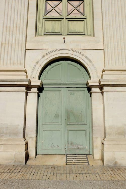 Free stock photo of color, door, green, mint