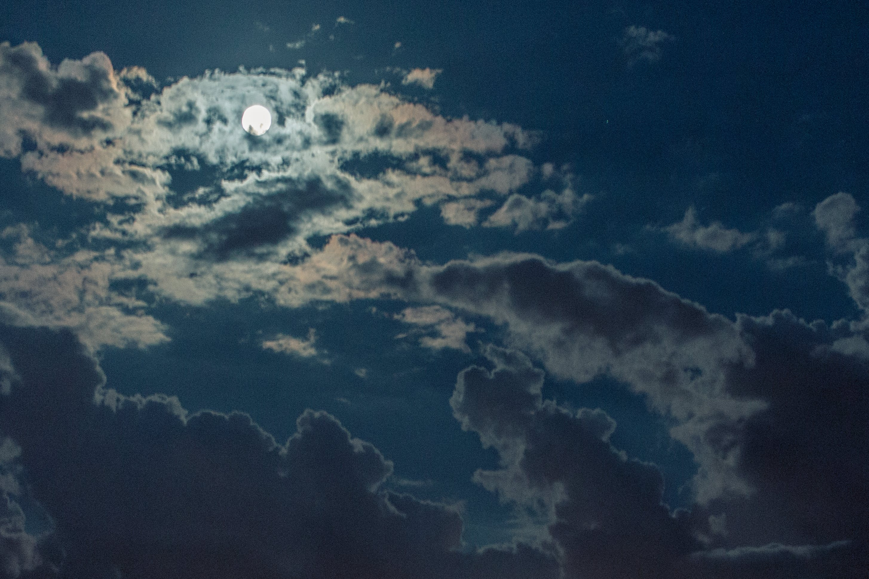 Free stock photo of light, sky, night, clouds