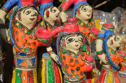 Photos gratuites de argile, art, culture indienne, poupée