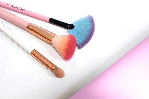 Free stock photo of blush, brush, colorful, cosmetics
