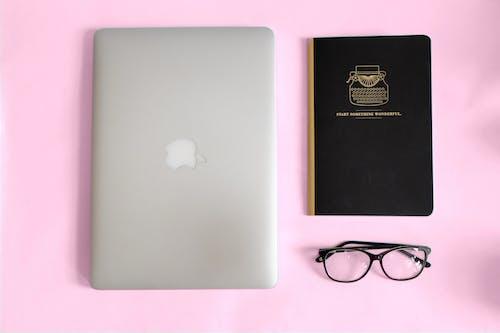 Free stock photo of blush, desk, flatlay, laptop
