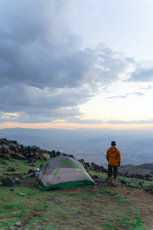 Person Camping Alone