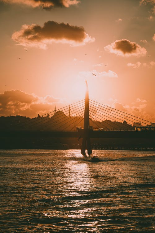 Free stock photo of amazing view, istanbul, silhouette