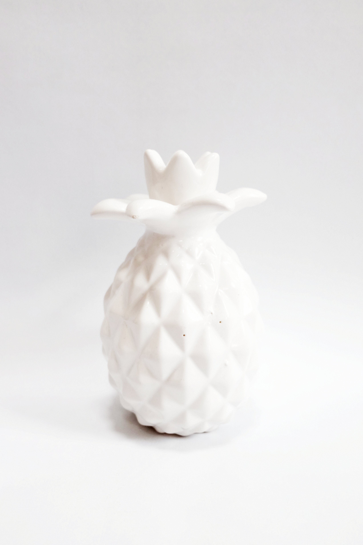 Free stock photo of model, pineapple, white, decoration