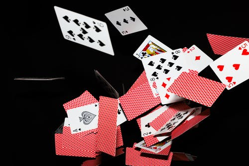 Red and White Playing Cards