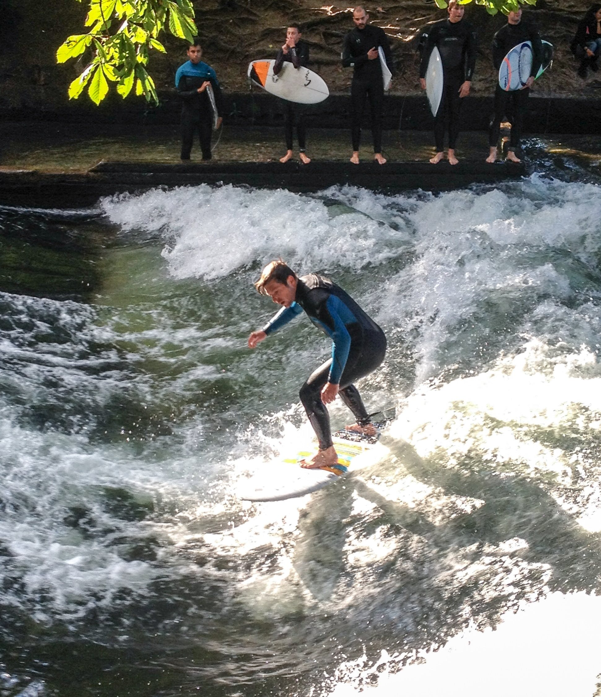 Free stock photo of water, surfer, germany, munich