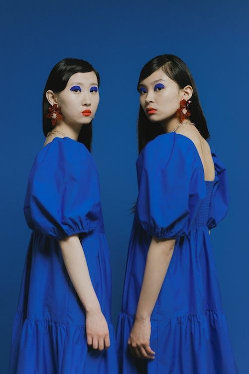 Бесплатное стоковое фото с азиатские женщины, гламур, голубой