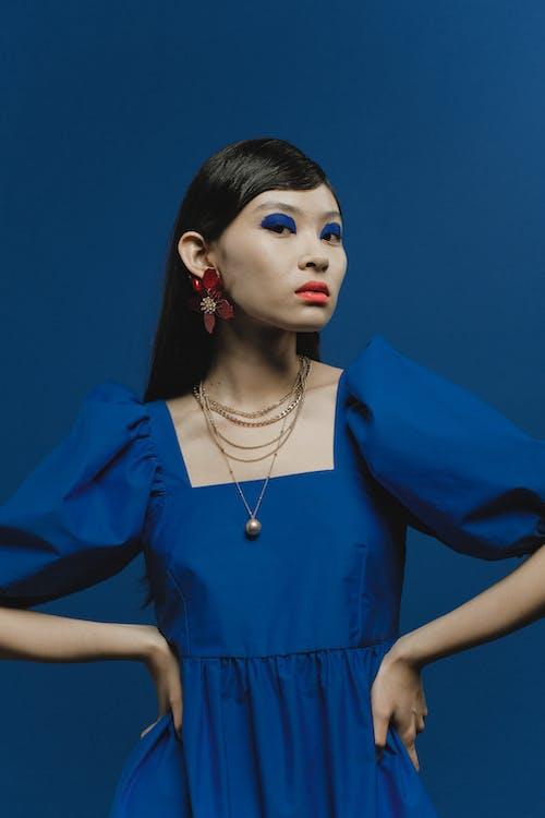 Бесплатное стоковое фото с азиатка, гламур, голубой