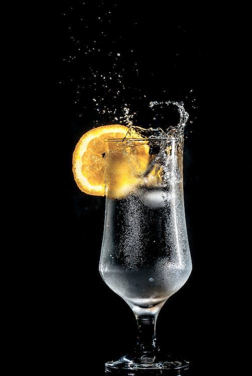 alkohol, appelsin, close-up