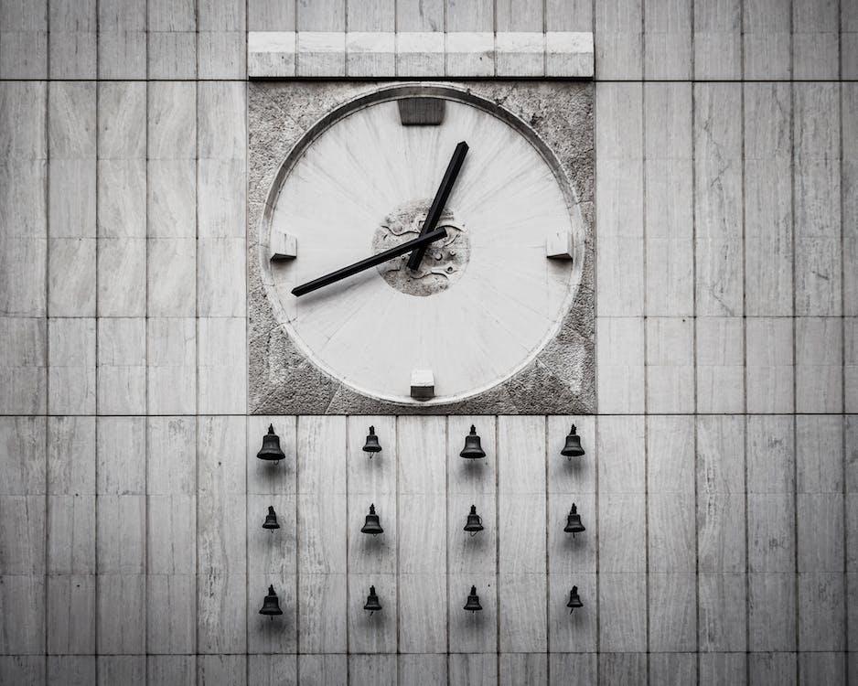 čas, časovač, černobílá