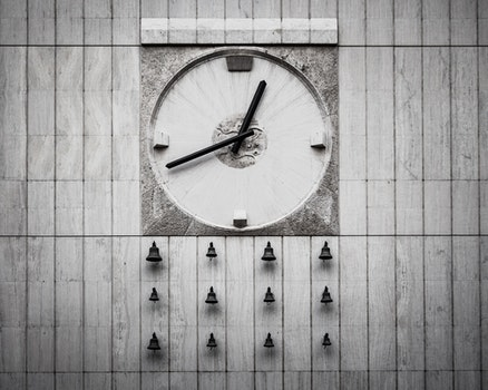Analog Wall Clock With Bells