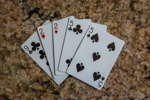 Free stock photo of cards, poker, two pairs