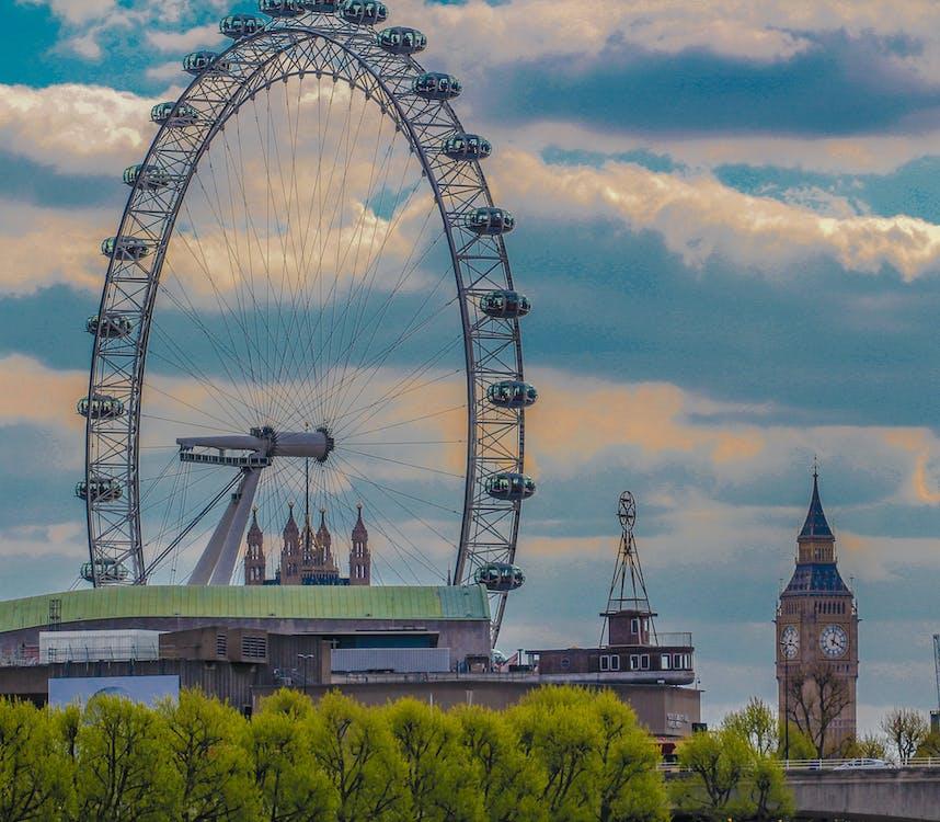 London Eye and Big Ben Tower Photo
