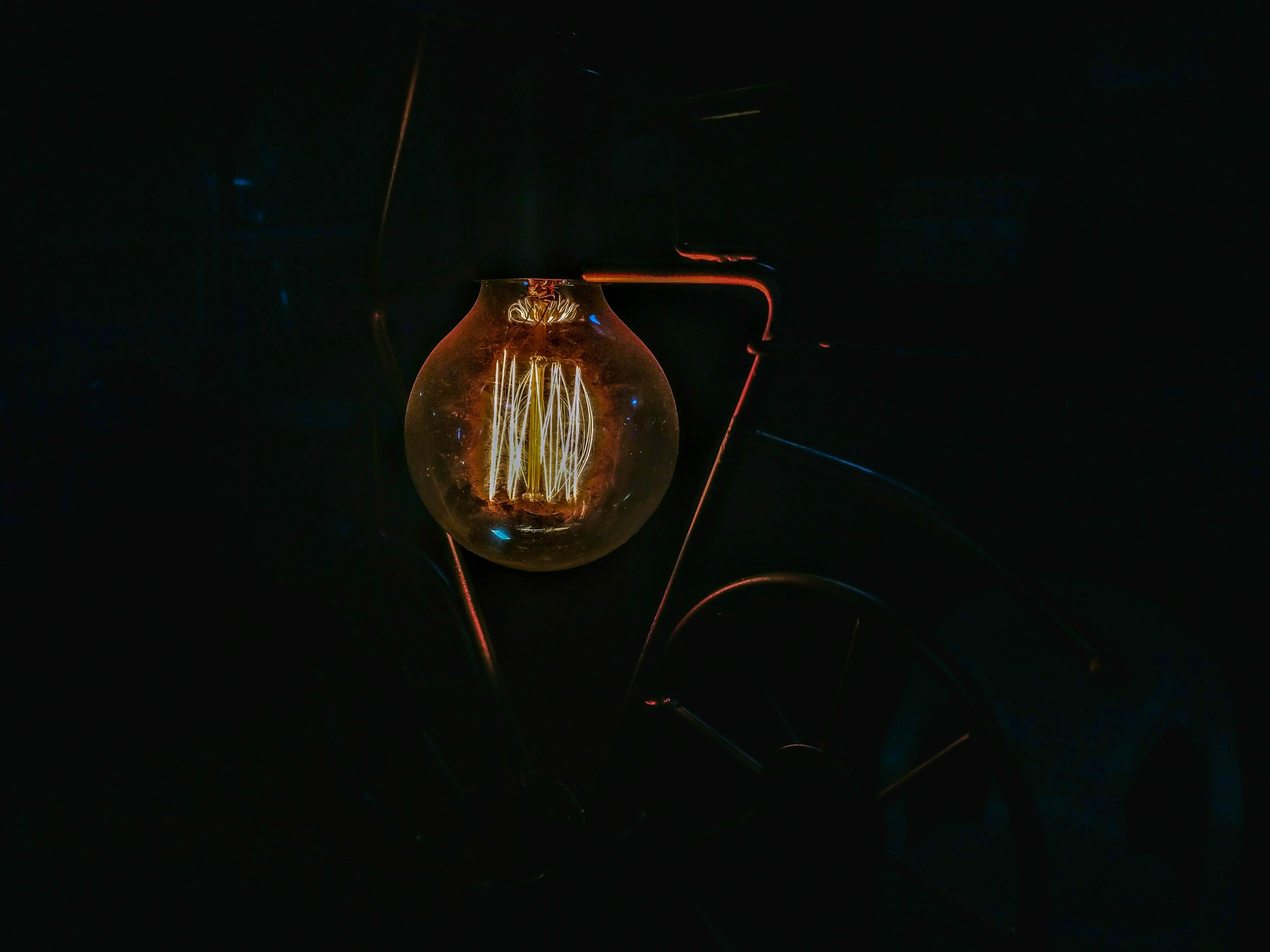 Free stock photo of abstract, bulb, candlelight, capture