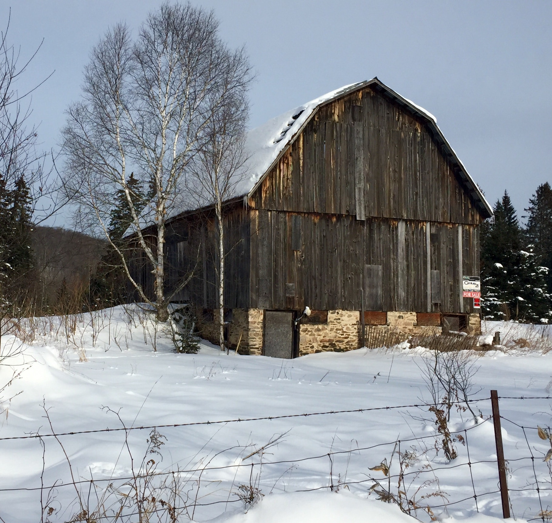 Free stock photo of abandoned farm building, old barn, seen