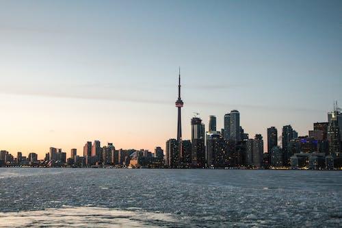 Ilmainen kuvapankkikuva tunnisteilla arkkitehtuuri, auringonlasku, cn tower, Kanada