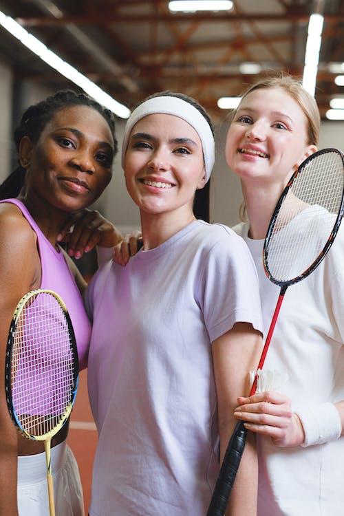 Free stock photo of active, adult, badminton