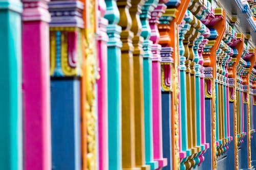 Foto d'estoc gratuïta de colorit, colors, columnes, disseny