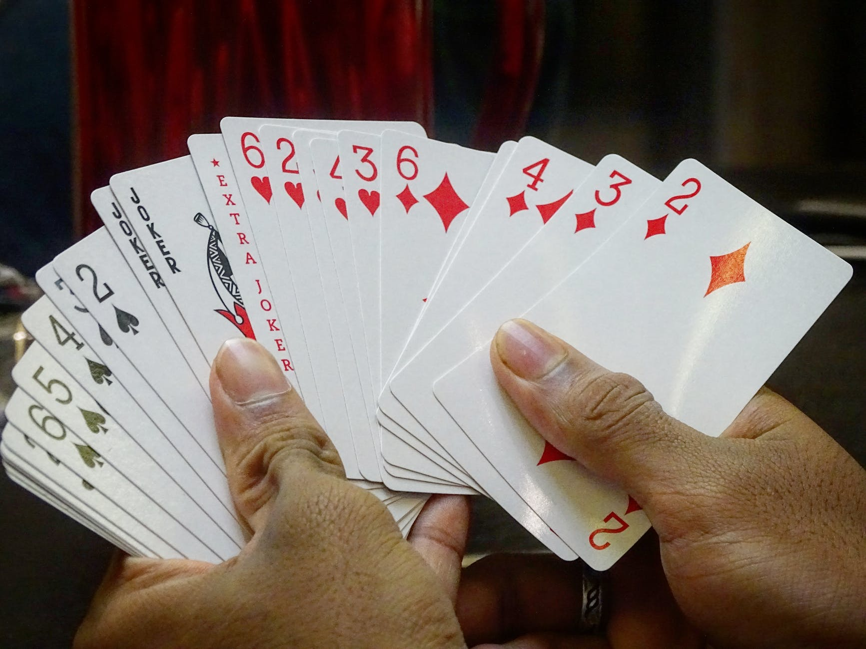 Person hold Card