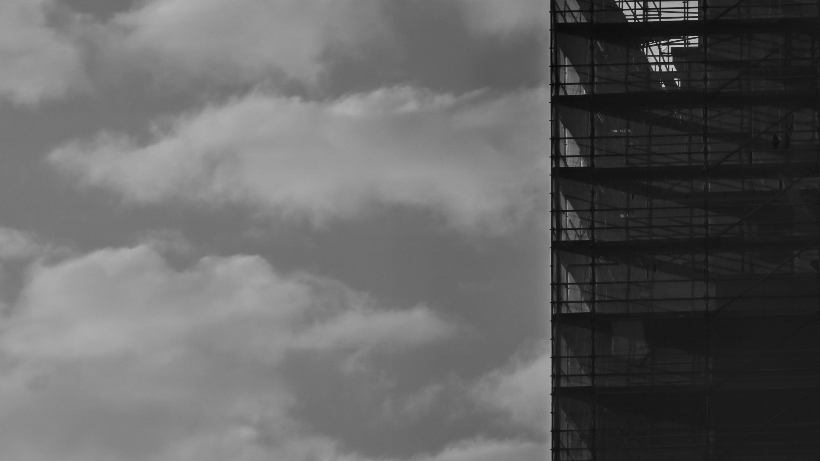 Free stock photo of a6000, black and white, clouds, free