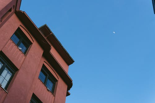The Half Moon in the Clear Blue Sky