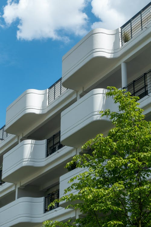 Immagine gratuita di alberi, alto, appartamenti