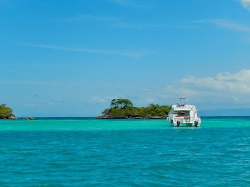 Free stock photo of aqua, blue, boat