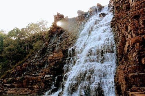 Waterfalls on Brown Rocky Mountain