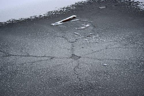 Free stock photo of crack, ice, snow