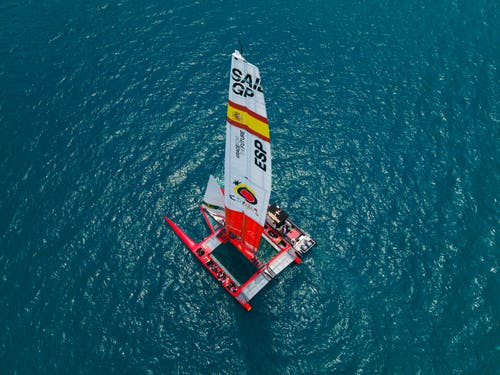 Free stock photo of action, aerial, americascup