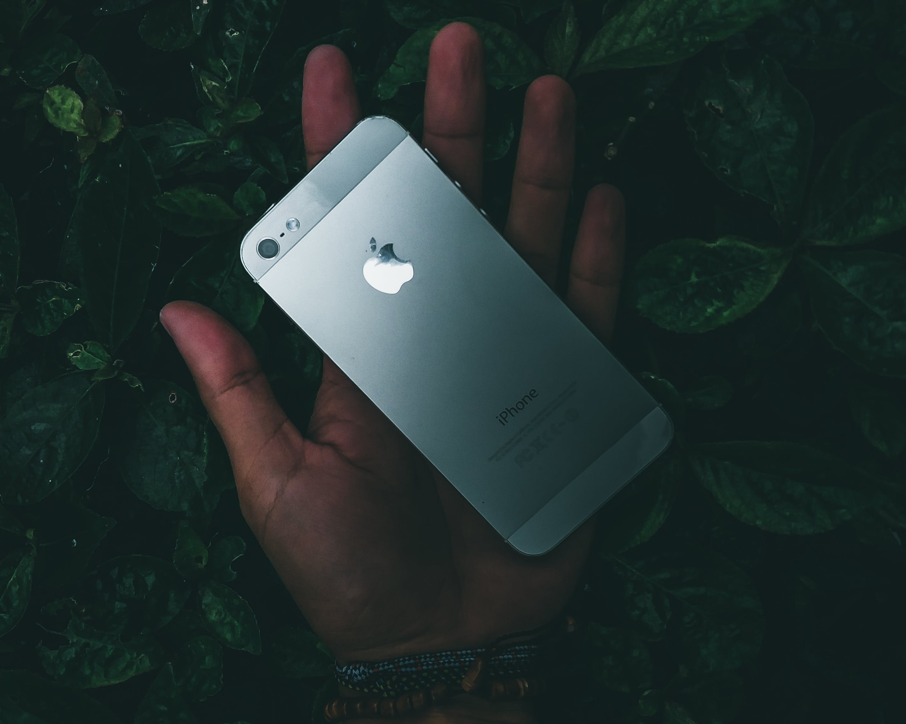 Iphone 5 on Person's Palm