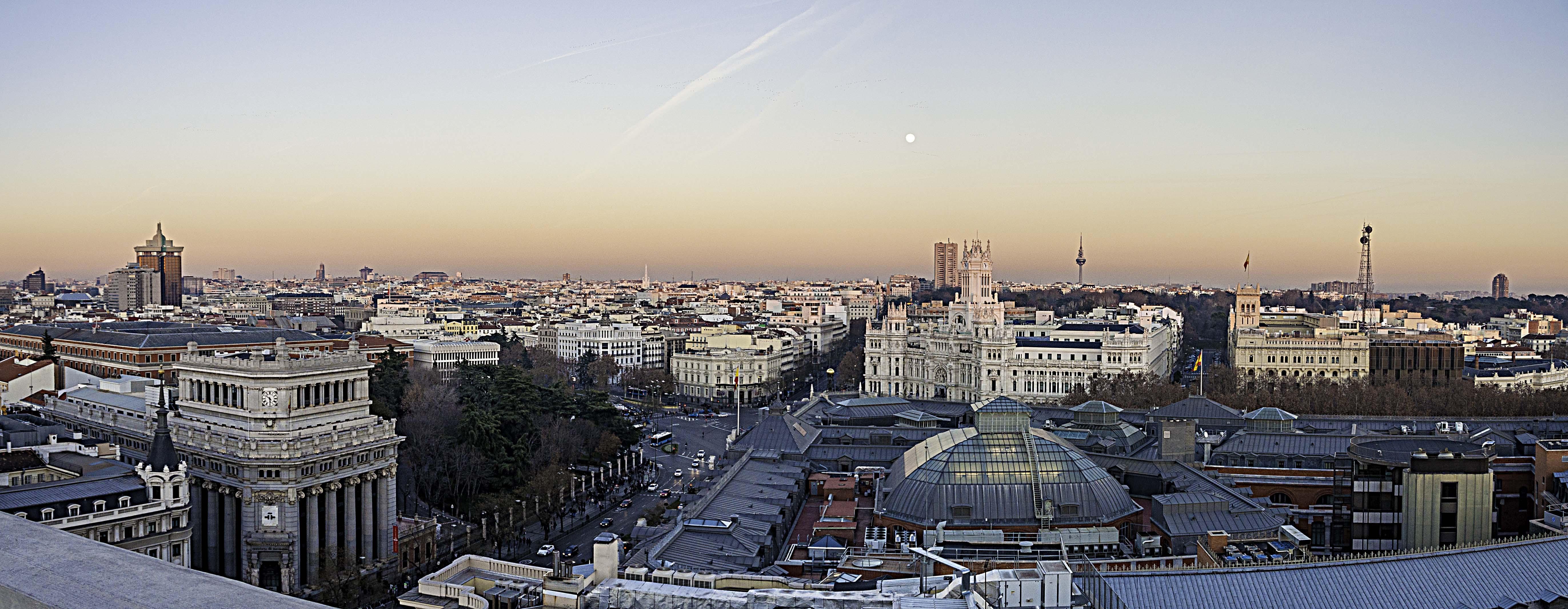 City Landscape during Sunset