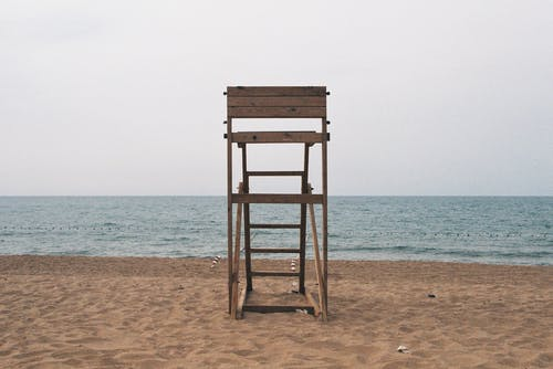 A Wooden Lifeguard Tower on the Beach