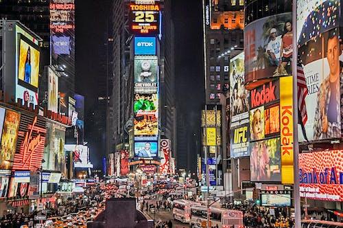 交通堵塞, 人, 人群, 商店 的 免费素材照片