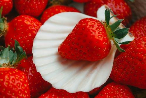 Close-Up Shot of Fresh Strawberries