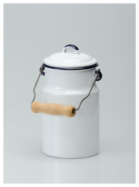 White Ceramic Jar With Lid