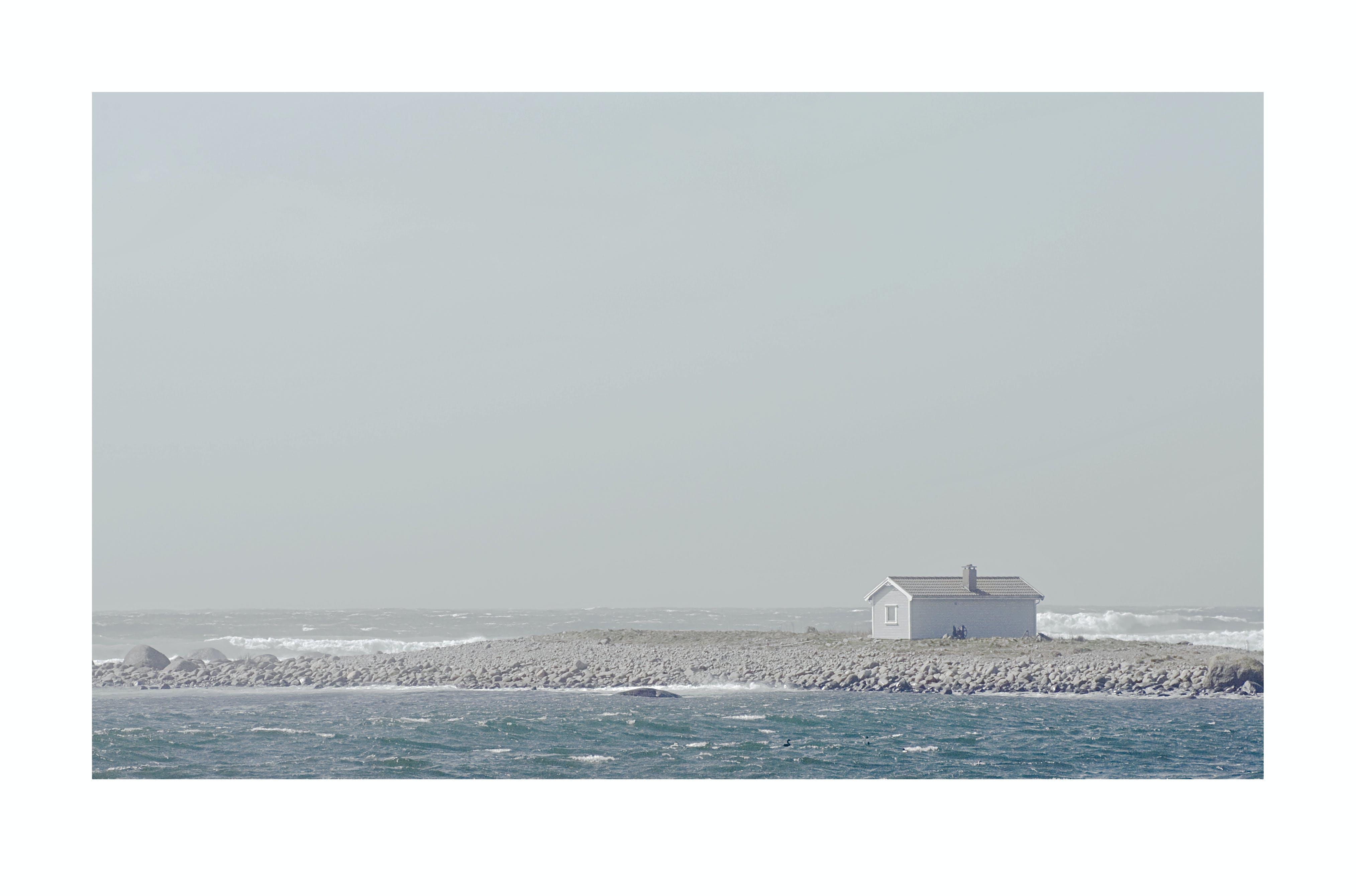 Free stock photo of hut, seashore