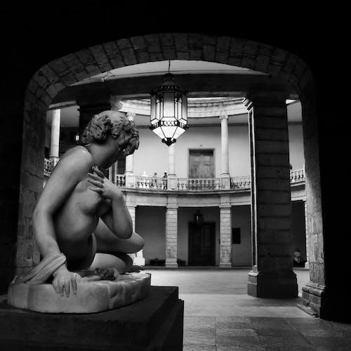 A Sculpture Inside a Building
