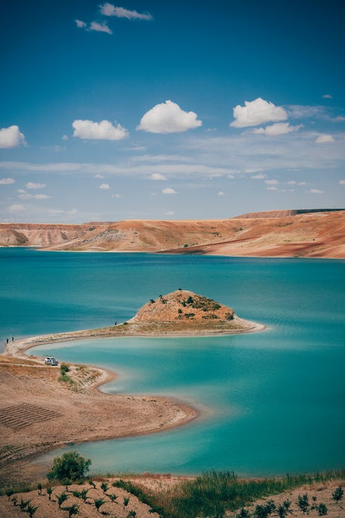 Fotos de stock gratuitas de a orillas del lago, aéreo, afuera