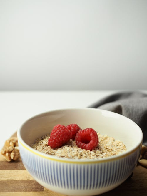 Close-Up Shot of an Oatmeal in a Bowl