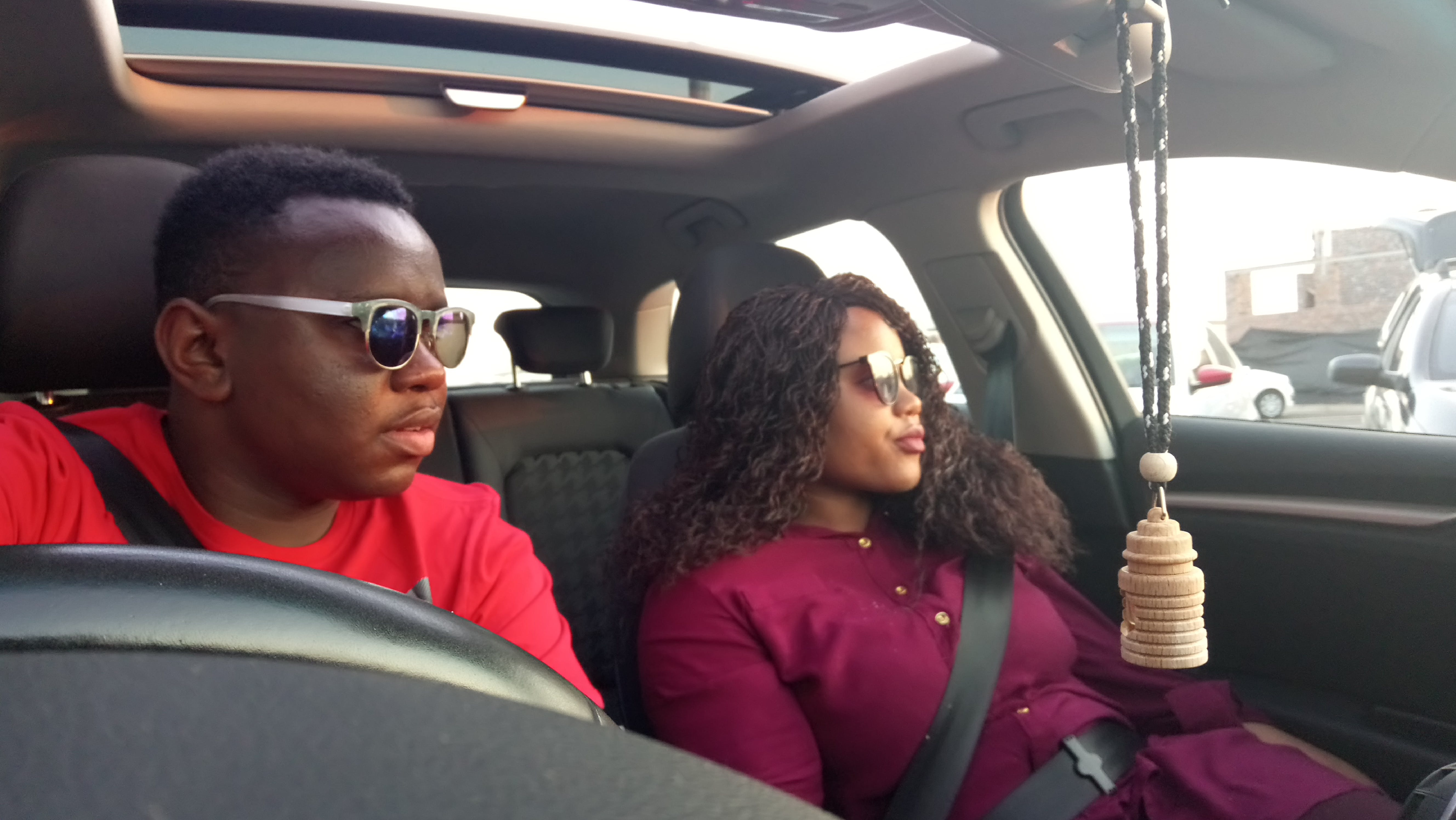 black people, couple, couple driving