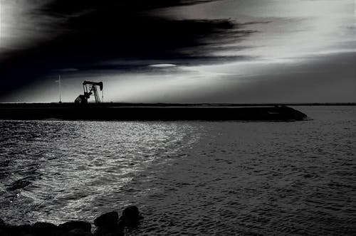 Základová fotografie zdarma na téma černobílá, krajina, mraky, obloha