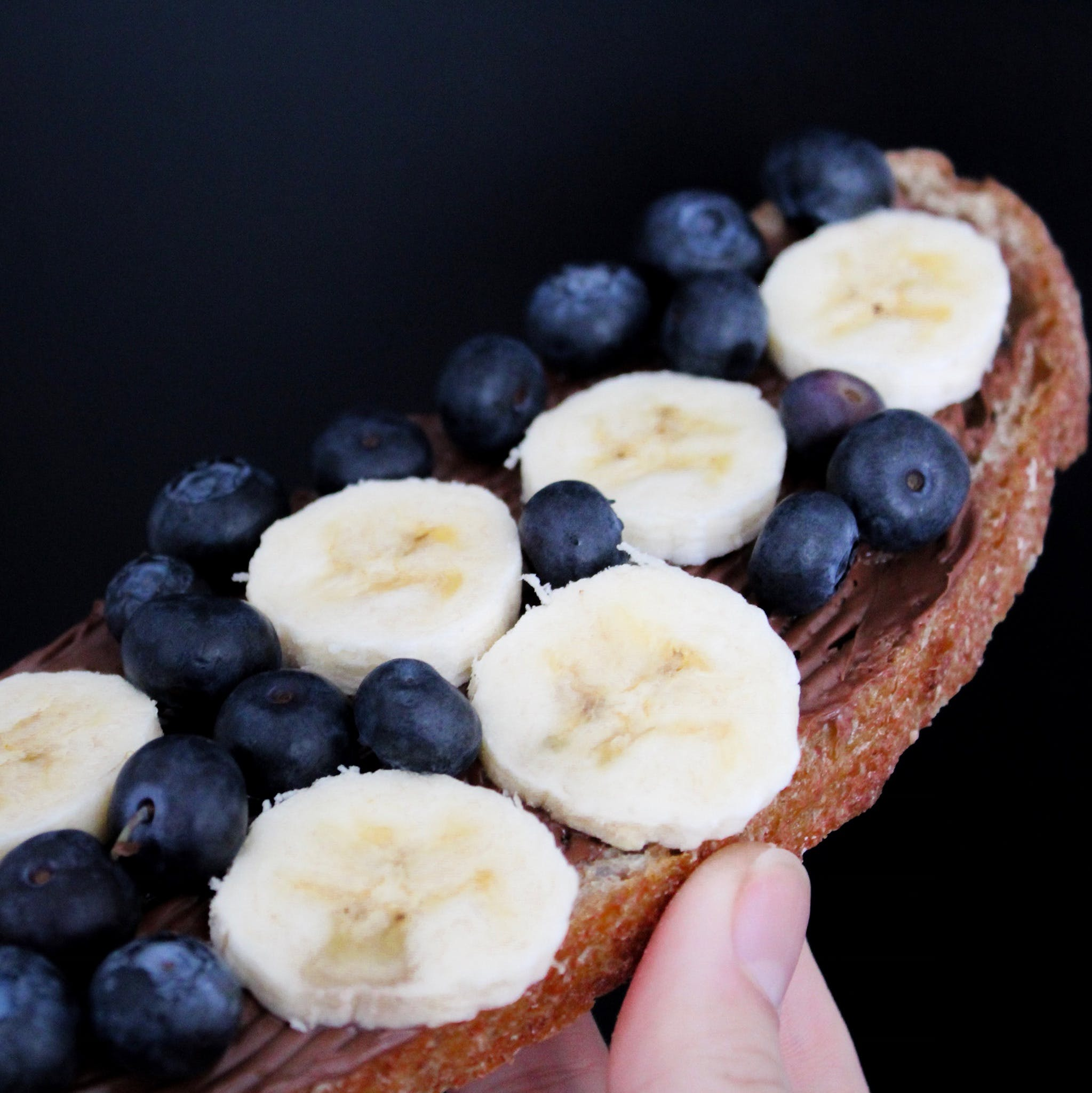 Sliced Banana With Blueberries