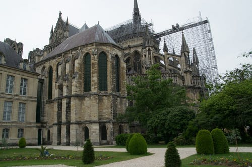 The Reims Cathedral Under Restoration